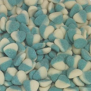 Blue Sour Hearts 1kg Bulk Lollies Bag for Lolly Buffet - Lolliland