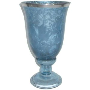 Frosted Glass Goblet/Candle holderMedium 21x12cm