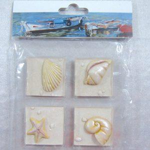 Fridge Magnet (Set of 4) - Shells 44x44cm