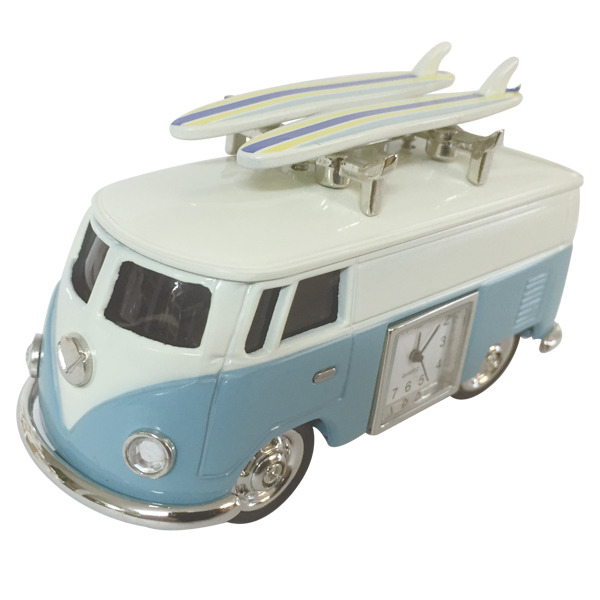 Hippy Van with  surfboards & clock -Blue
