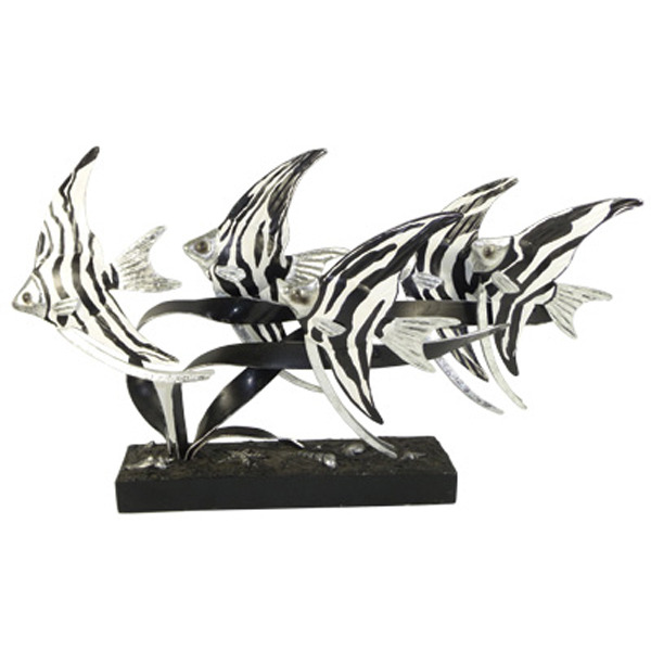 Angelfish Metal Centerpiece - Black & White