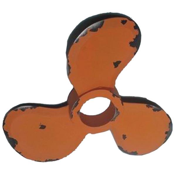 Wooden Propeller Decoration- Retro Orange 34cm