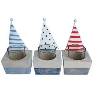 Sailboat Tea-Light Holders (set of 3) 17.5cm