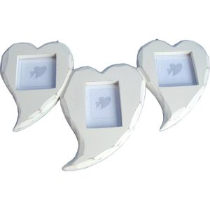 3 Piece Heart Photo fame 35x22cm
