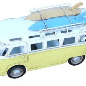 HippieVan with Surf boards - Yellow  - Metal