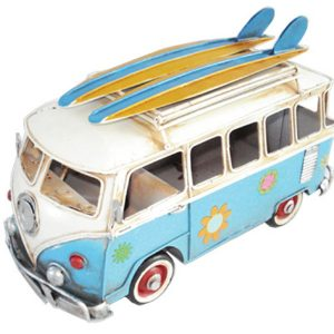 Hippie Van Flower Power w Surfboards - Blue
