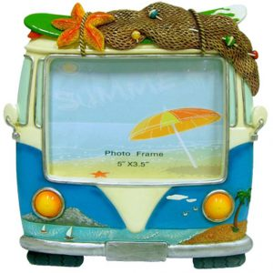 Hippie Van Photo Frame - Blue - Small standing
