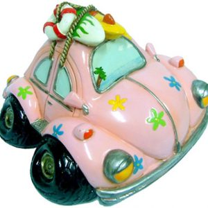 Old Bug Money Box - Small Pink