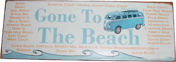 Aussie Coast Metal Sign-Gone to the Beach