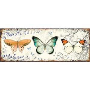 Metal wall Plaque Butterflys 38cm