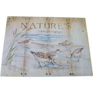 Wooden Plaque Natures Sanderlings 254x355 cm