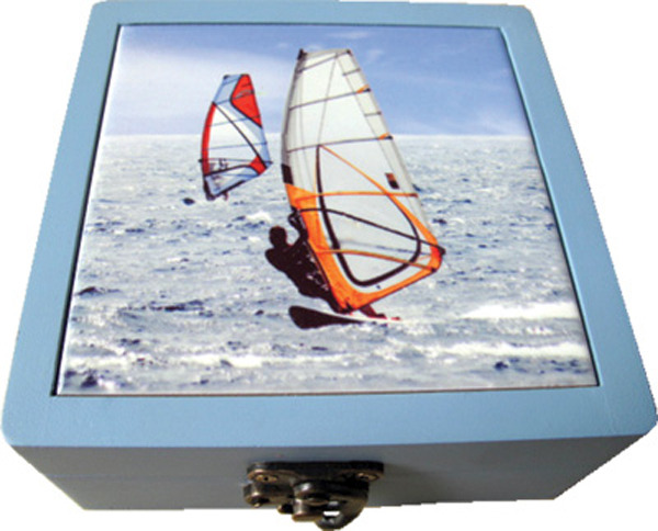 Ceramic Coasters Boxed set of 4 - Windsurfers