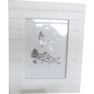 Photo frame Boardwalk Pattern - White