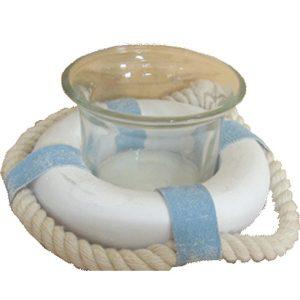 Lifebouy Tea Light Holder
