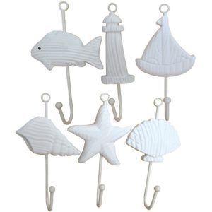 Sealife Wall Hooks Sailboat 19cm Pack of 12