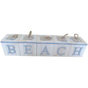 Beach -  5P Letter Block sign box set - White 83cm