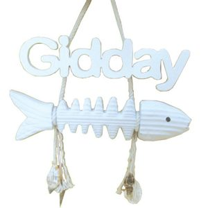 Fish Bone Gidday Sign 25cm