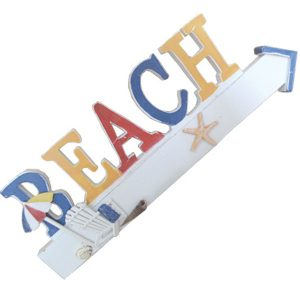 Beach Plaque coloured 43cm