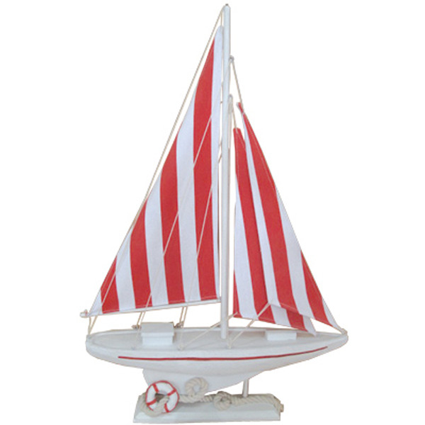 Sailing Yacht Red Stripe 63cm