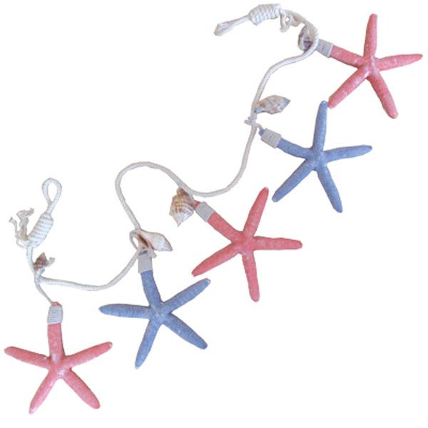 Starfish Garland Coloured 80x13x1cm