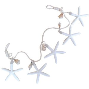 Starfish Garland White 80x13x1cm