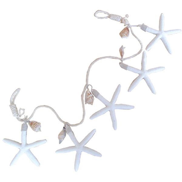 Starfish Garland White 80x13x1cm