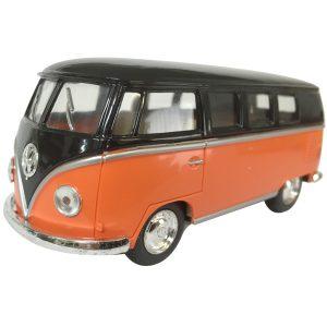 "1962 VW Kombi diecast 5""- Black top - ORANGE"