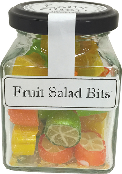 Fruit Salad Rock Candy Boiled Lollies 100g Jars - Packed In Boxes of 12
