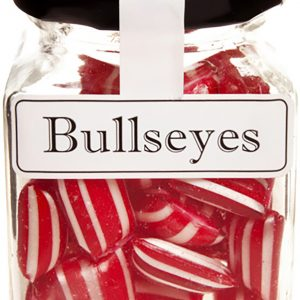Bullseyes Boiled Lollies Rock Candy 100g Jars - Packed In Boxes of 12