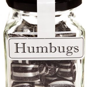 Humbugs Aniseed Boiled Lollies Rock Candy 100g Jars  - Packed In Boxes of 12