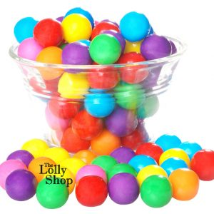 Gum Balls large Multi coloured - 1kg Bulk Lollies Bag for Lolly Buffet