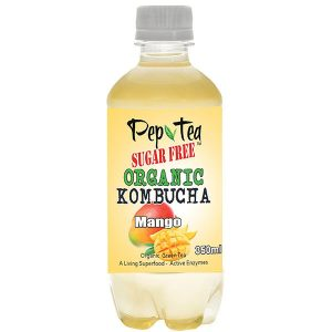 Organic Kombucha Tea - Mango - Sugar Free Drinks 350ml  Box of 12