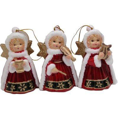 Angel Red Cape Dinner Bells
