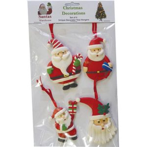 Christmas Hangers (set of 4) - B - approx 7-10cm