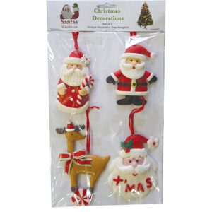 Christmas Hangers (set of 4) - C - approx 7-10cm