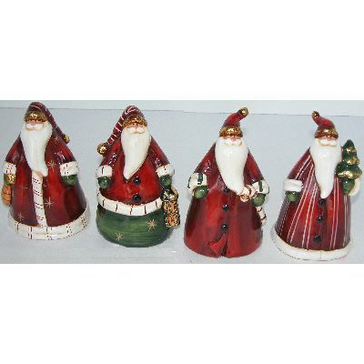 Santas Conical in Elegant Gowns (set of 4)